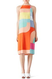 Colorblock Midi Shift by Mara Hoffman