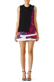 Mixed Floral Printed Ruffle Dress by Carven