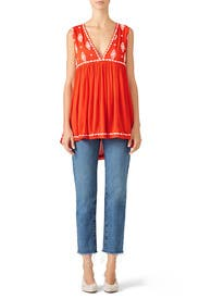 Diamond Embroidered Top by Free People