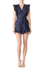 Floral Adriana Romper by Rebecca Taylor