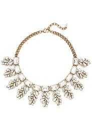 Crystal Leaf Necklace by Slate & Willow Accessories
