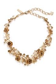 Rose and Leaf Gold Vine Necklace by Oscar de la Renta