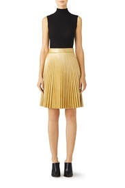 Gold Faux Leather Skirt by Slate & Willow