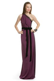 Berry Wild Lace Gown by Robert Rodriguez Black Label