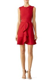 Red Ruffle Bow Dress by RED Valentino