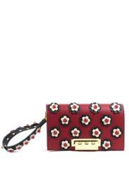 Red Floral Earthette Large Clutch by ZAC Zac Posen Handbags