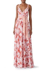 Pink Floral Maxi by Badgley Mischka