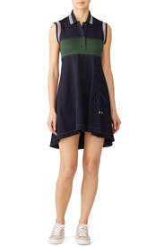 Lace Up Mini Polo Shirtdress by Carven
