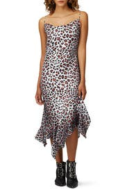Leopard Spaghetti Strap Dress by Marques' Almeida