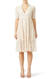 Ivory Lace Tea Dress by Free People