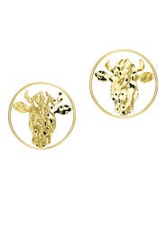 Bull Hoop Earrings by Anndra Neen