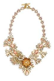 Petunia Stone Statement Necklace by Marchesa Jewelry