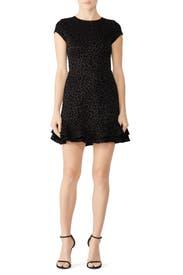 Leopard Ruffle Hem Dress by Slate & Willow
