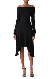 Black Off Shoulder Dress by Derek Lam Collective
