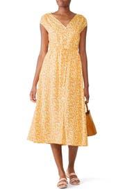 Yellow Floral Midi Dress by Draper James