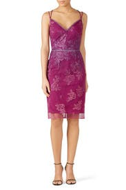 Pink Ombre Lace Dress by Marchesa Notte