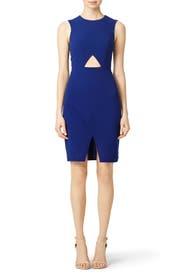 Cobalt Oblique Dress by BCBGMAXAZRIA