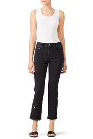 Cutwork Cigarette Jean by Free People
