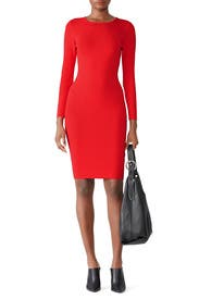 Red Gia Knit Sheath by John + Jenn