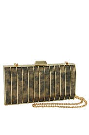 Gold Sonia Minaudiere by Inge Christopher