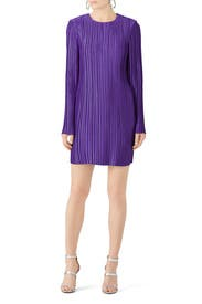 Violet Plisse Mini Dress by Tibi