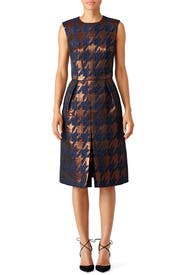 Bronze Houndstooth Dress by Martin Grant