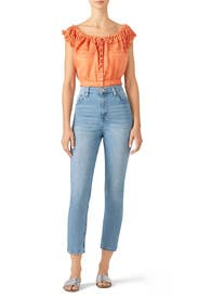 Eyelet You A Lot Crop Top by Free People