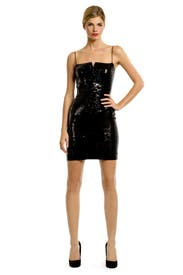 Futuristic Sequin Dress by Nicole Miller