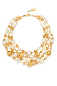 Golden Pearl Necklace by Ben-Amun