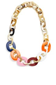 Multi Large Horn Necklace by Diane Cotton Jewelry
