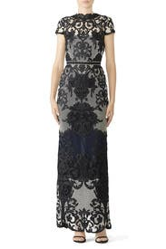 Ivory Embroidered Gown by Marchesa Notte
