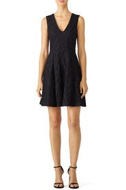 Black Lace Textured Dress by Derek Lam 10 Crosby