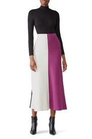 Colorblock Knit Skirt by Derek Lam Collective