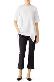 White Layered Top by Diane von Furstenberg