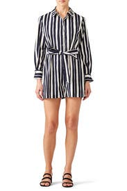 Striped Shirt Romper by Martin Grant