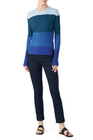 Blue Colorblock Sweater by Tome