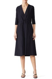 Woven Drawstring Dress by Jil Sander Navy