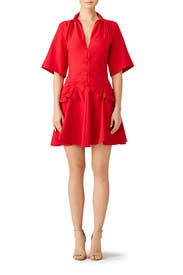 Lace Up Canvas Dress by Carven