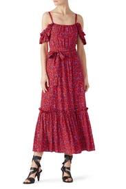 Iris Poppy Ruffle Cami Dress by Derek Lam 10 Crosby
