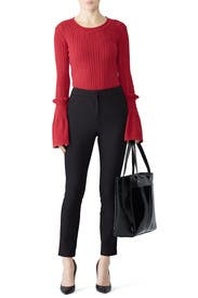 Vertical Cut Out Sweater by Slate & Willow
