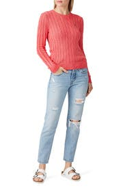 Pink Crew Neck Sweater by Polo Ralph Lauren