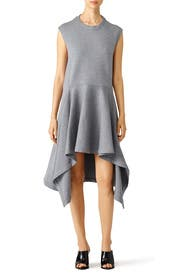 Grey Sideswept Hem Dress by Marni