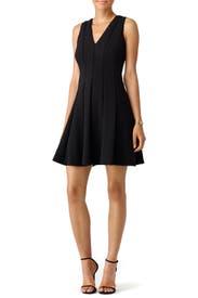 Black Diamond Texture Dress by Rebecca Taylor