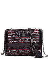 Tweed Fleming Small Convertible Bag by Tory Burch Accessories
