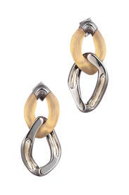 Two Tone Double Link Earrings by Alexis Bittar