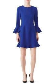 Blue Ruffle Bell Dress by Jill Jill Stuart