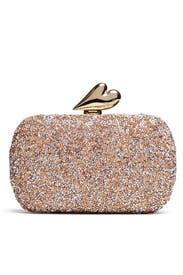 Pink Love Crystal Minaudiere by Diane von Furstenberg Handbags