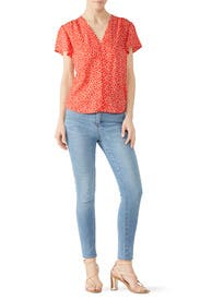 Malia V-Neck Top by Rebecca Taylor