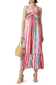 Striped Halter Maxi  by Slate & Willow