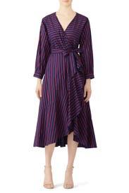 Striped Midnight Blue Dress by Tara Jarmon